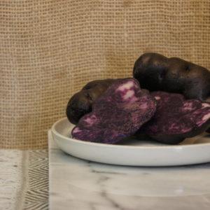 Vitelotte Potatoes Harvest 2019