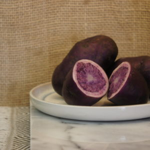Salad Blue Potatoes Harvest 2019