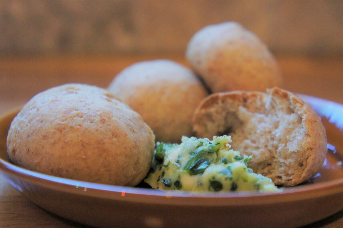 Wholemeal Dough Balls with Wild Garlic Butter 2021 The Potato Shop